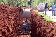 Galerias de águas pluviais são implantadas na duplicação da Avenida João Dalaqua